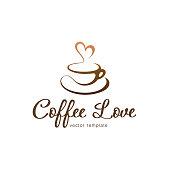 Vector design template. Coffee love