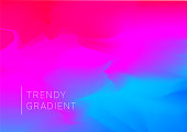 Vector design template in trendy vibrant gradient colors with abstract shapes. Futuristic posters, banners, brochure, flyer and cover designs. 3d shape