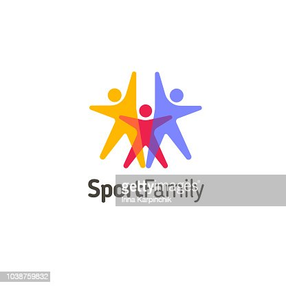 Vector design template. Sport family icon : Vector Art