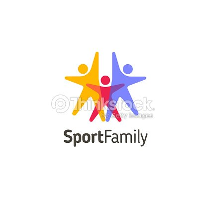 Vector design template. Sport family icon : stock vector