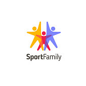 Vector design template. Sport family icon