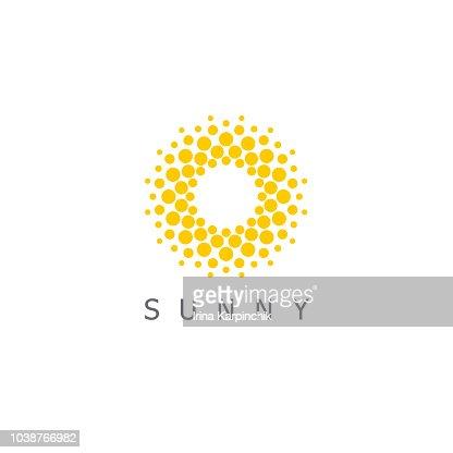 ベクター デザインのテンプレートです。太陽はドット アイコンの記号です。 : ベクトルアート