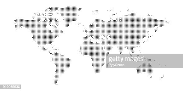 Vector dotted world map : Vector Art