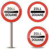 Vector illustration of doaune sign on white background