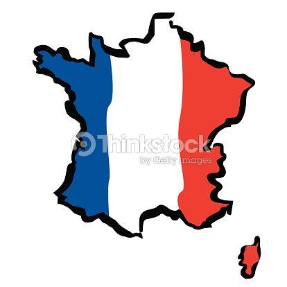 Vecteur Dessin Carte De France clipart vectoriel | Thinkstock