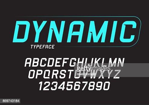 Vektor-dynamische Fett Kursiv-Design, Alphabet, Schrift, Tippfehler : Vektorgrafik