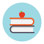 Vector education flat icon - Illustration