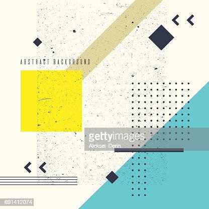 Elements Vectoriels Fond Plat Style Minimaliste Geometrique Art
