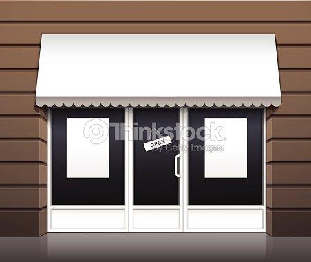 Vector Exterior Of Restaurant Cafe Shop Front Stock Vector