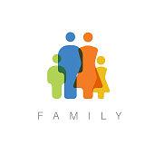 Vector minimalist family concept illustration / icon