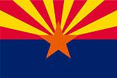 Vector flag of Arizona state, United States of America.