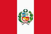 Vector flag of Peru. Proportion 2:3. Peruvian national bicolor flag. Vector EPS 10