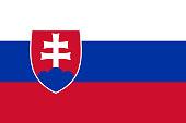 Vector flag of Slovakia. Proportion 2:3. Slovak national flag. Slovak Republic. Vector EPS 10