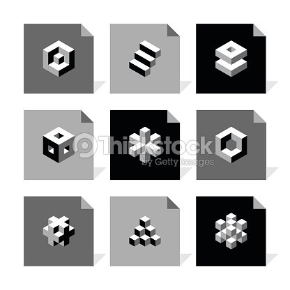 Vector Flat Icons Set Cube Icons Vector Art | Thinkstock