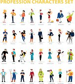 Vector flat people portraits collection isolated on white background. Social icons, personality characters group. Cartoon style. Business illustration. Happy, cheerful people avatar design. Emotions.
