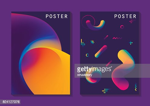 Vector fluid curve shape in motion, A4 format. : stock vector