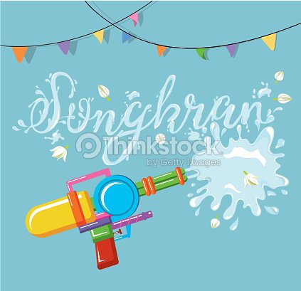 vector for songkran festival thailand new year vector art