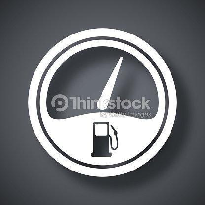 Vector Fuel Gauge Icon Vector Art | Thinkstock
