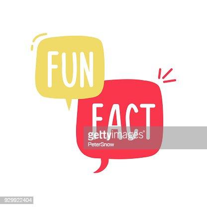 Vector fun and cheerful doodle speech bubble with the words Fun Fact. Vector concept illustration : stock vector