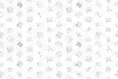 Vector furniture pattern. Furniture seamless background