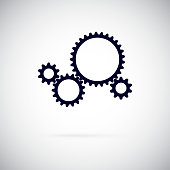 Gears. Working gear. Vector illustration