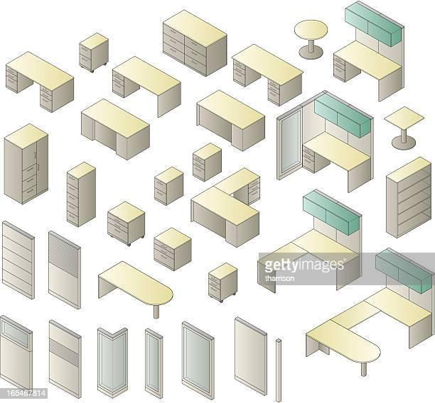 Vector Generic Office Furniture