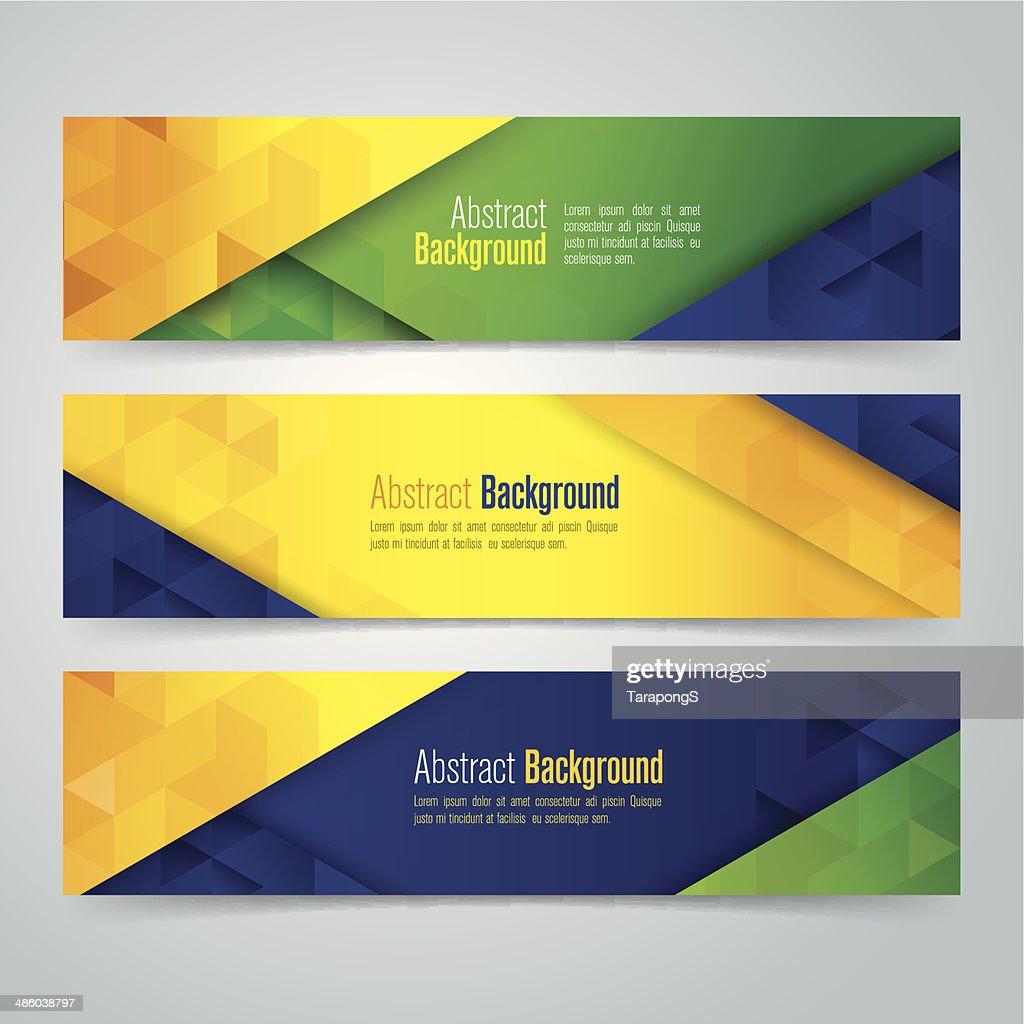 Banner Design Ideas Bakery Banners Banner Design Ideas Vector Geometric  Banner In Brazil Flag Concept Vector