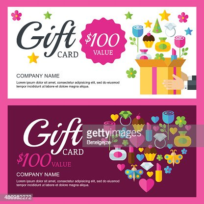 Vector Gift Coupon Or Voucher Background Template Vector Art
