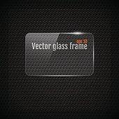 Vector glass frame background on carbon fiber texture