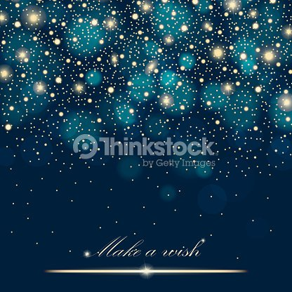 Vector gold glitter particles background effect for luxury greeting rich card. Sparkling texture. Star dust sparks in explosion on blue background. Vector illustration : stock vector