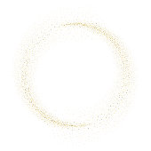 Vector gold glitter circle abstract background, golden sparkles on white background, Gold glitter card design. vector illustration vip design template.