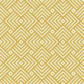 Vector golden background. Seamless geometric creative pattern.