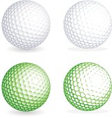Two hi detail golf balls, one shaded and one flat style. File is organized with Layers, separating balls from shadows. All colors are global, so it's easy to customize and color the ball as you need i