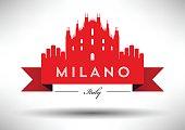 Vector Graphic Design of Milano City Skyline