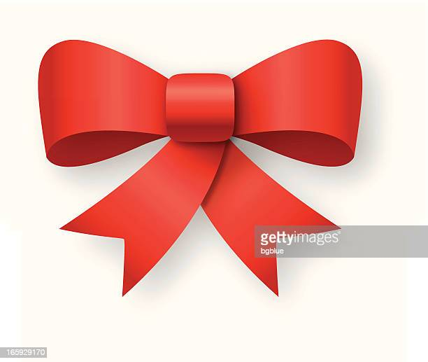 A vector graphic of a red gift bow