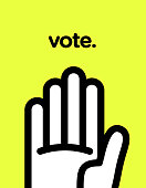 Vector graphic poster of voting with cool and modern design.