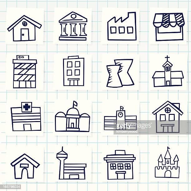 Vector graphics of building graphics