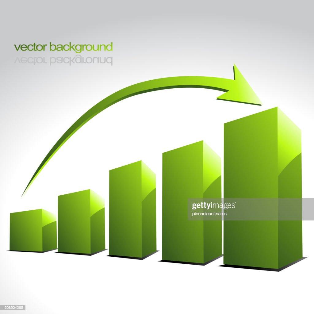 Vetor de gráfico de barras : Arte vetorial