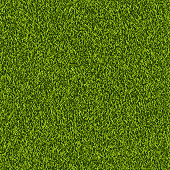 Vector green grass lawn seamless texture. Abstract spring or summer nature background. Field or meadow realistic illustration.
