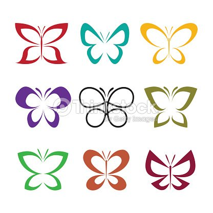 Vector group of butterfly design on white background. Insect Animal. Butterfly Icon.