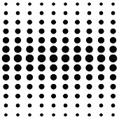 Black dots on white background. Halftone black and white pattern. Modern geometric texture. Repeating abstract design.Vector illustration stock vector.
