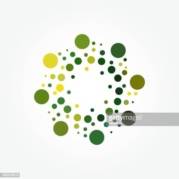 Vector halftone polka dots pattern