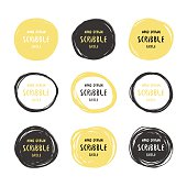 http://www.istockphoto.com/vector/vector-hand-drawn-black-and-gold-scribble-logos-gm511945390-86903161