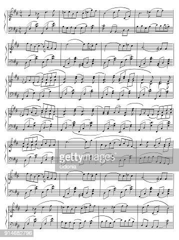 Vector Hand Drawn Music Note Sheet Vector Art Thinkstock
