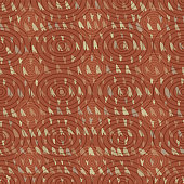 Vector hand drawn triangle tribal arrow seamless pattern of arrowhead shapes on brown with concentric ellipses. EPS10 file with transparency mode.