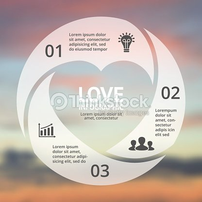 Vector heart circle infographic template for love cycle diagram vector heart circle infographic template for love cycle diagram graph vector art ccuart Gallery