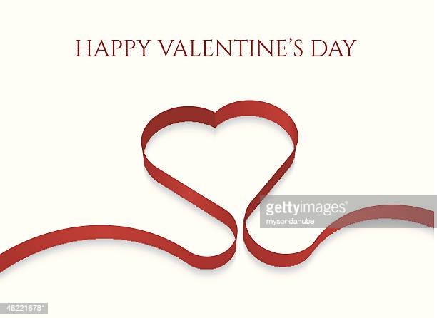 vector heart shape ribbon