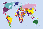 vector high detailed world map
