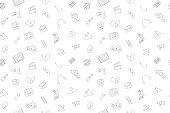 Vector hobby pattern. Hobby seamless background