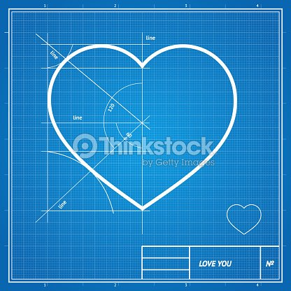 Vector holiday card heart on blueprint paper vector art thinkstock heart on blueprint paper vector art malvernweather Gallery